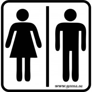 Väggdekor - Toalett Symbol 1