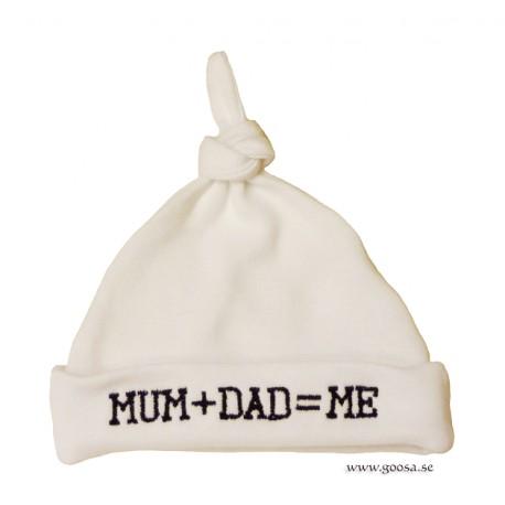 Mössa Nyfödd MUM DAD ME