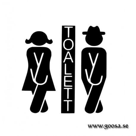 Väggdekor - Toalett Symbol 2