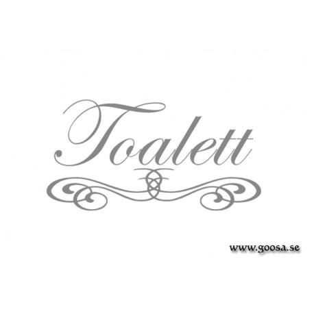 Väggtext - Toalett