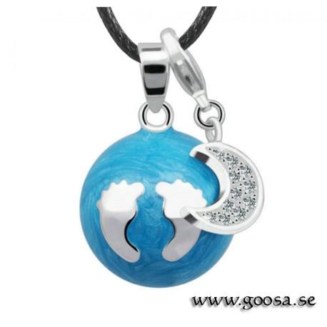 Gravidsmycke – Bola Blå Babyfötter med måne