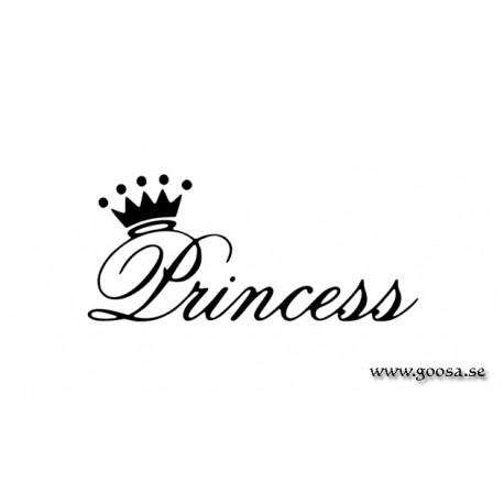 Väggtext - Princess