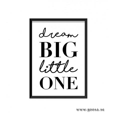 Barntavla - dream BIG little ONE