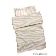 Bäddset Rosa Zebra till Spjälsäng