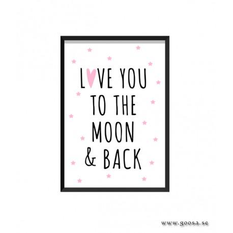 Barntavla - LOVE YOU TO THE MOON & BACK
