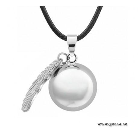 Gravidsmycke – Bola silverpläterad hjärtformad
