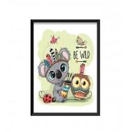 Barntavla - BE WILD / Koala och Uggla