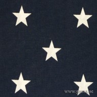 Star fabric Blue / White