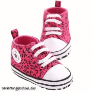 Baby Shoes Cerise Leopard