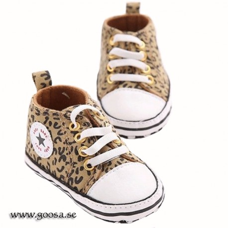 Baby Shoes Brown Leopard
