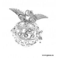 Gravidsmycke - Bola silverpläterad Änglaögon
