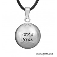 Gravidsmycke – Bola silver med text IT´S A BOY