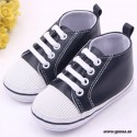 Baby Shoes White/Cerise Leopard
