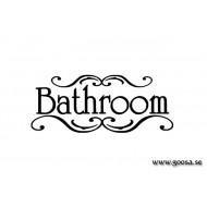 Väggtext - Bathroom