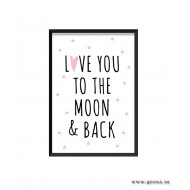 Barntavla - LOVE YOU TO THE MOON & BACK