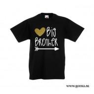 Barn t-shirt - BIG BROTHER och ett glitter hjärta