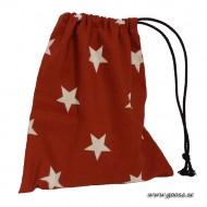 Röd Kulpåse med vita stjärnor