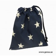 Blå Kulpåse med vita stjärnor
