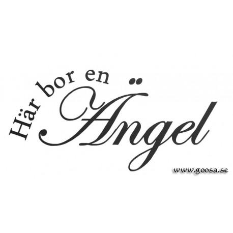 Väggord - Här bor en Ängel
